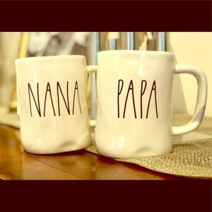 Rae Dunn LL Set of Nana & Papa Mugs